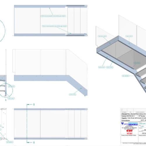 Realizziamo strutture in vetro portante con simulazione tridimensionale